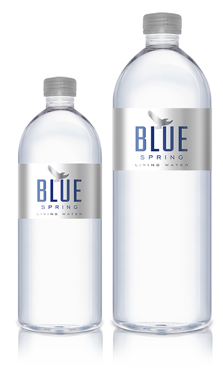 Blue Spring Water Bottles
